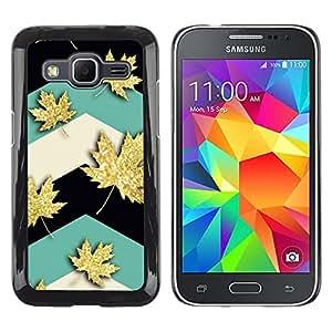 LECELL--Funda protectora / Cubierta / Piel For Samsung Galaxy Core Prime SM-G360 -- Maple Leaf Canada Teal --