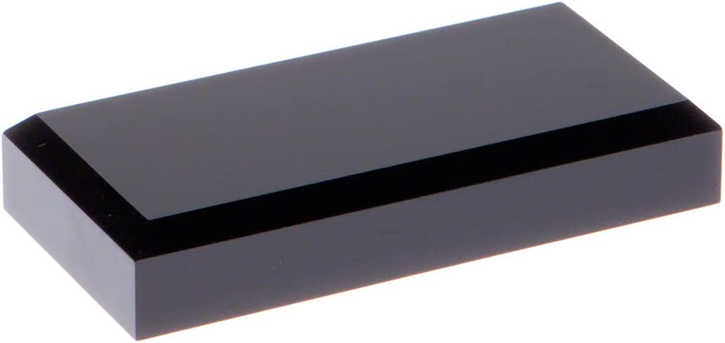 0.75 H x 6 W x 4 D Plymor Black Acrylic Rectangular Beveled Display Base