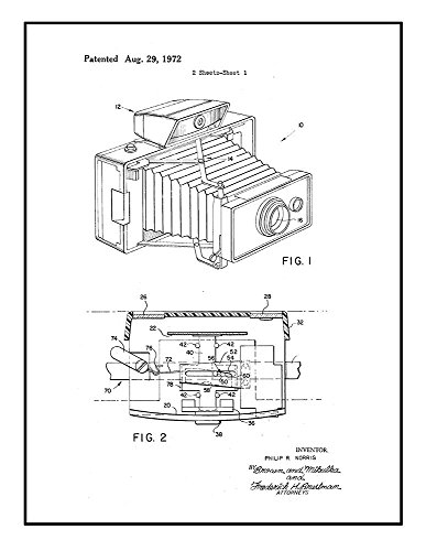 Multiple Zone Stereo Rangefinder Patent Print Black Ink on W