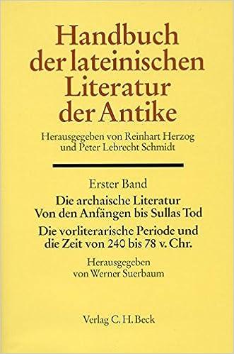 Suerbaum & Blänsdorf, Die archaische Literatur cover