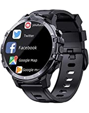 64g Men Smart Watch Sport Fitness Armband Dual Cameras GPS med bank Power 2021 Ny support SIM-kort Smart Phone SmartWatch