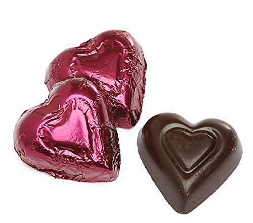 ndy Color Foiled Hearts - 1 LB Madelaine Premium Valentine's Chocolate, 60 Pieces (Foiled Chocolate Hearts)