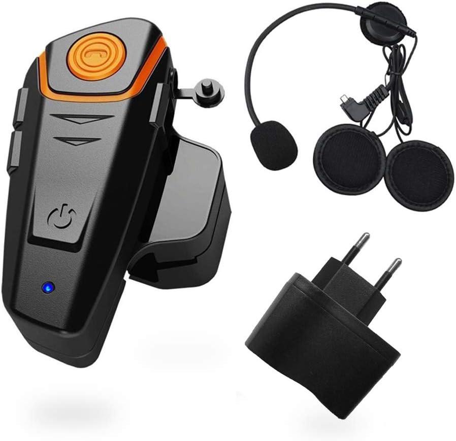 Sistema de Auriculares Bluetooth de 1000 m de Motocicleta generación de Cascos Auriculares Bluetooth Universal Impermeable walkie 2 o 3 Pilotos y Audio Radio FM, GPS Manos Libres (1 Pieza)