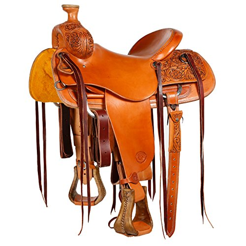 NRS Competitor Series Antique Lily Flower Ranch Saddle 16