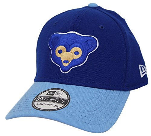 New Era Chicago Cubs MLB 39THIRTY Cooperstown Classic Flex Fit Hat - Two M/LTone Blue