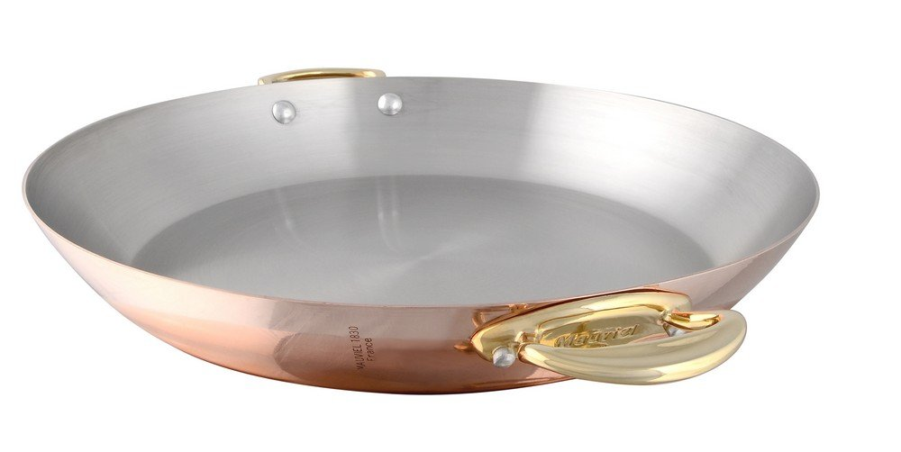 Mauviel 6737.35 M'Heritage M'150B Copper Paella Pan, 13.7'' Bronze Handle by Mauviel