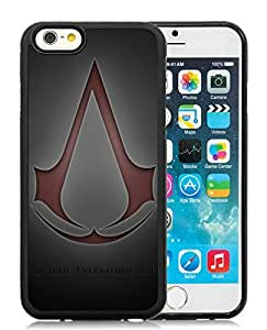 Customized Case Assassins Creed Assassins Symbol Red Background Quote Unique Case for iphone 6 4.7 inch in black