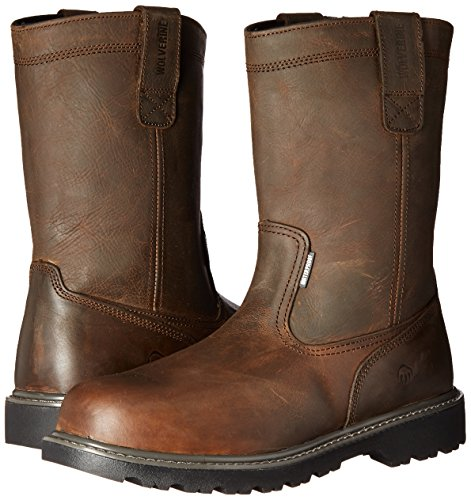 Wolverine Men's Floorhand Waterproof 10'' Soft Toe Work Boot, Dark Brown, 7.5 W US by Wolverine (Image #6)
