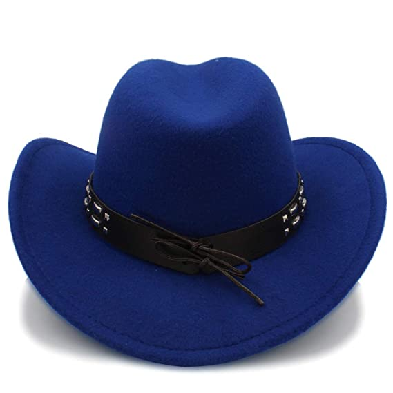 Yuying Cool Western Western Sombreros Chapeu Cowboy Equestrian Cap Cowboy  Hats Hombres Sun Visor Cap Women Travel (Color   Azul 482aced5125