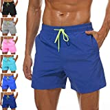 Lncropo Men's Swim Trunks Quick Dry Swim Shorts with Mesh Lining Swimwear Bathing Suits (C-Dark Blue, S)