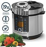 Multikocher 6 Liter Edelstahl Schnellkochtopf Reiskocher Kochautomat cooker Multikocher Dampfdruck Kochtopf inklusiv Dampfgarer Einsatz 24 Stunde Timer 1.000 Watt 19 Automaitkprogramme