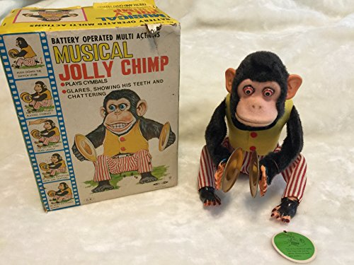Musical Jolly Chimp, Classic Cymbal Playing Monkey 1950's Vintage Toy w/Box