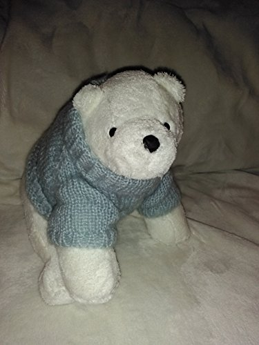 Bath & Body Works Plush White Polar Bear Wearing Light Blue Turtle Neck Sweater 10'' Inches (Turtle Plush 10')