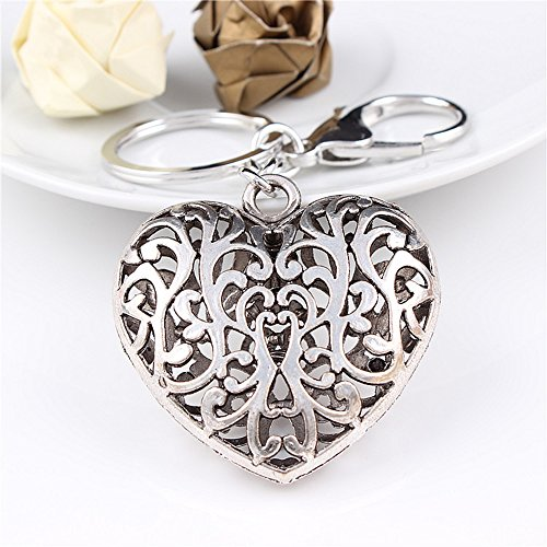 Jzcky Shzrp Beautiful Hollow Heart Charm Keychain, Purse Pendant, Handbag Decoration