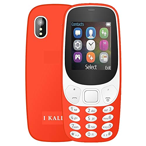 I KALL K3310 Gold Series Keyboard Mobile (1.8 Inch, Dual Sim, Vibration, King Voice, 1000 mAh Battery) (Red)