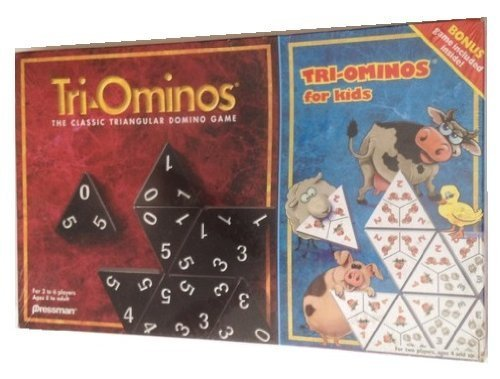 Tri Ominos; The Classic Triangular Domino Game; Plus Bonus Game for Kids