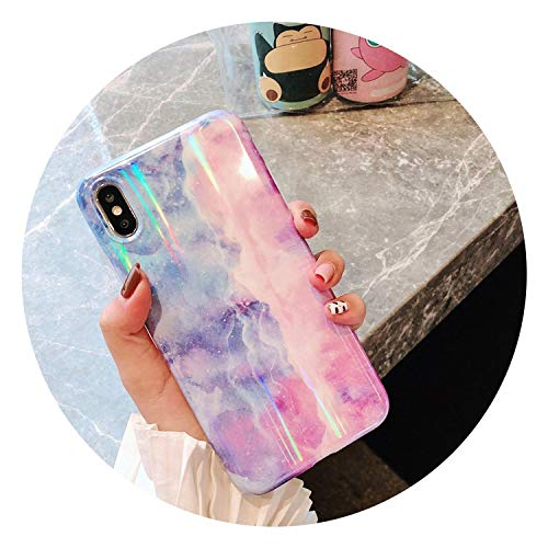 Luxury Laser Glossy Kickstand Holder Marble Phone Case for iPhone 7 8 Plus X 6 S Plus Soft Silicone Case for iPhone XR XS Max,Color D,for iPhone 6S - Plus Safe Intrinsically