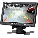 7 inch Resolution 1024 x 600 Pixels Color TFT LCD Car Parking Assistance Monitors Support Rotating Screen and 2 AV Inputs Camera Monitor (7 Inch LCD Monitor)