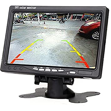 Amazon 7 Inch Resolution 1024 X 600 Pixels Color TFT LCD Car Parking Assistance Monitors Support Rotating Screen And 2 AV Inputs Camera Monitor