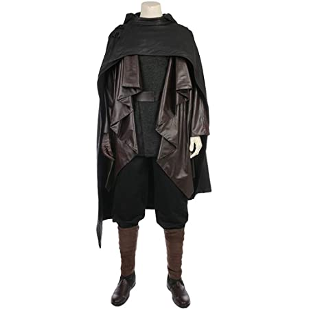 Star Wars 8 COS Clothing Luke Skywalker Black Full Cosplay ...