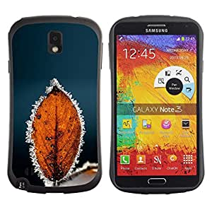 Suave TPU GEL Carcasa Funda Silicona Blando Estuche Caso de protección (para) Samsung Note 3 / CECELL Phone case / / Autumn Winter Frost Leaf /