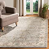 Safavieh Heritage Collection HG862A Handcrafted Traditional Oriental Beige and Grey Wool Area Rug (9' x 12')