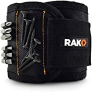 RAK Magnetic Wristband with Strong Magnets for Holding Screws, Nails, Drill Bits for DIY Handyman, Father/Dad,