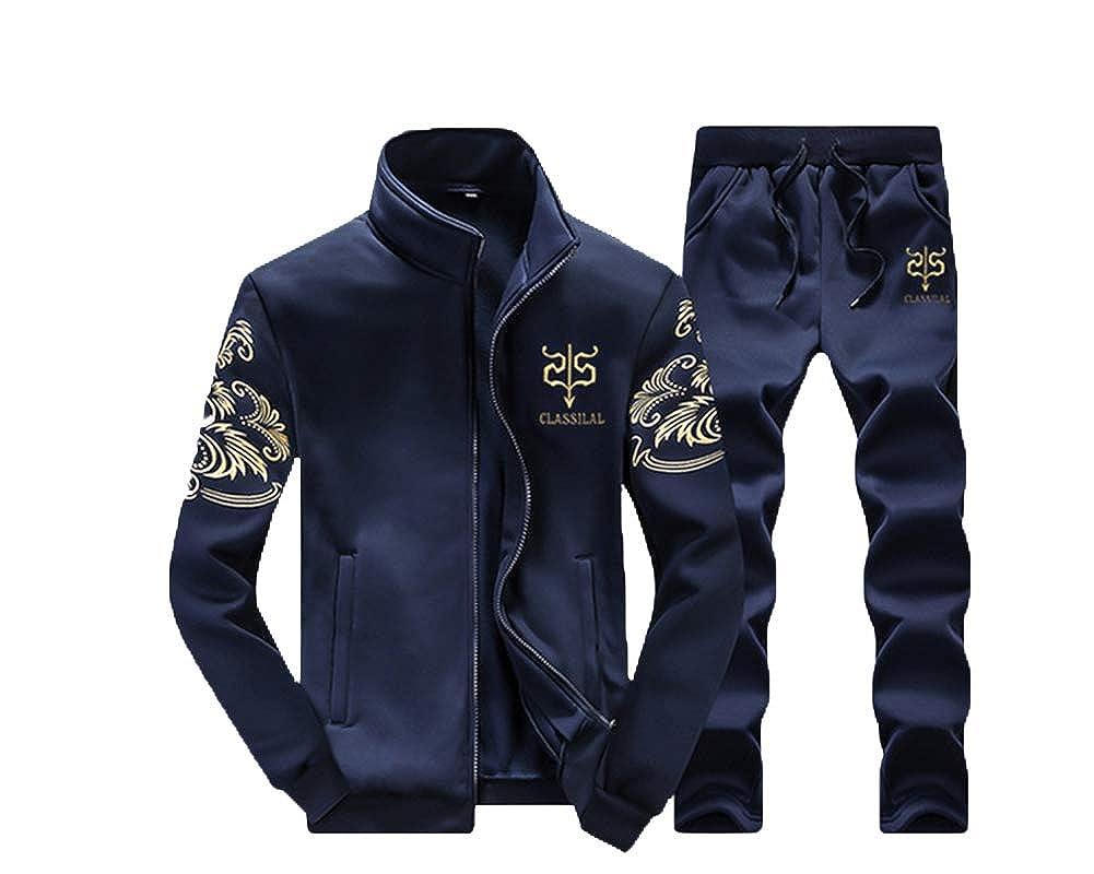 PengGengA Herren Jogging Anzug Sweatshirt Hose Sportanzug Langer Mantel+Lange Jogginghose 2 St/ücke Sets