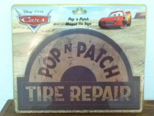 Disney Cars Pop 'n Patch Shaped Tin Sign