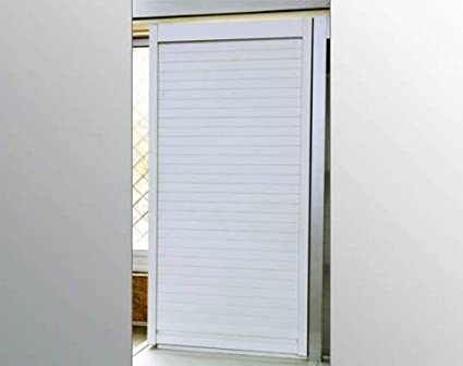 Now & Ever PVC Rolling Shutter Aluminium Finish, 450 x 1320 mm, Silver
