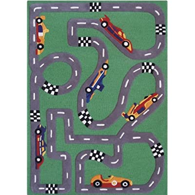 Race Car Track Rug Home Decor