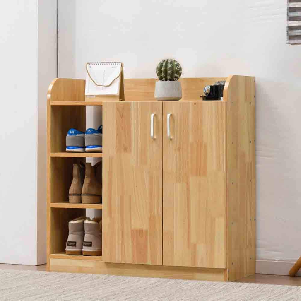 Sxfyzcy Multifunctional Solid Wood Shoe Changing Cabinet With 2 Doors Storage For Living Room Entry Shoe Changing Cabinet Amazon Co Uk Kitchen Home