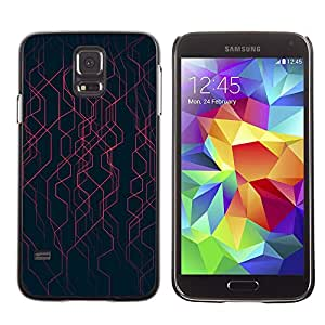 Plastic Shell Protective Case Cover || Samsung Galaxy S5 SM-G900 || Black Stripes Energy Tech @XPTECH