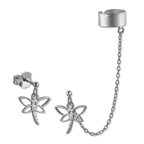 SilberDream Ohrschmuck Ohrringe - Ohrstecker Libelle mit einem Helix Ohr Clip Piercing 925er Sterling Silber SDO8870