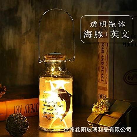 Dolphin Solar Mason Jar Light Led impermeable al aire libre Interior Gancho Botella de deriva Jardín