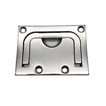 8Pcs Boat Hatch Pull Flush Lift Ring Recessed Handle Locker Cabinet Lock