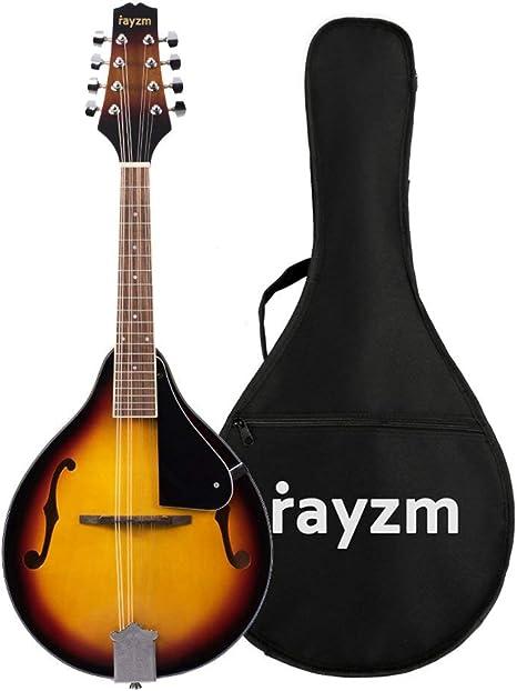 Rayzm Mandolina Tradicional Bluegrass en Color Sunburst Tostado ...