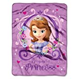 "Disney's Sofia The First, ""Princess Perfection"" Silk Touch Throw Blanket, 46"" X 60"", Multi Color by Disney"