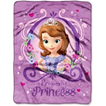 """Disney """"Sofia The First Princess Perfection"""" Silk Touch Throw, 46 by 60-Inch"""