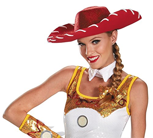 JESSIE GLAM COSTUME HAT & BOW (Jessie Toy Story Costume Kids)