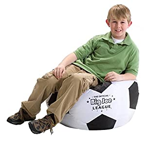 Comfort Research Big Joe Soccer Ball Bean Bag Chair, Kids Bean Bags