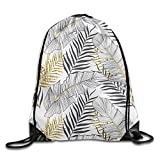 Bahuluo Portable Foldaway Sport Gym Sack Pack - Fine and Broad Leaves