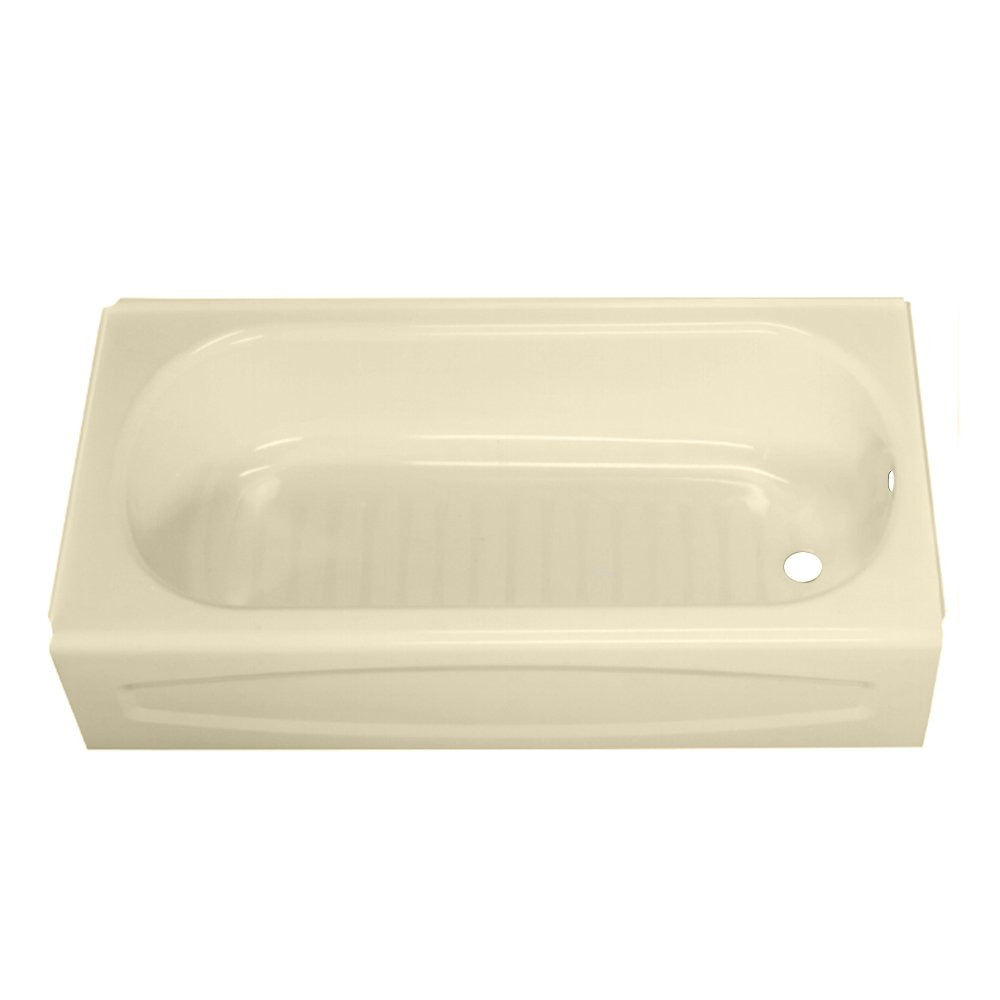 White 5-Feet American Standard 0263.112.020 New Solar Soaking Bathtub with Right Hand Outlet