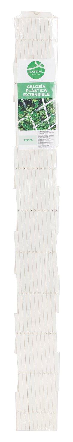 Catral OUTER PLASTIC 7572u201–Jalousie 2x White 43060004