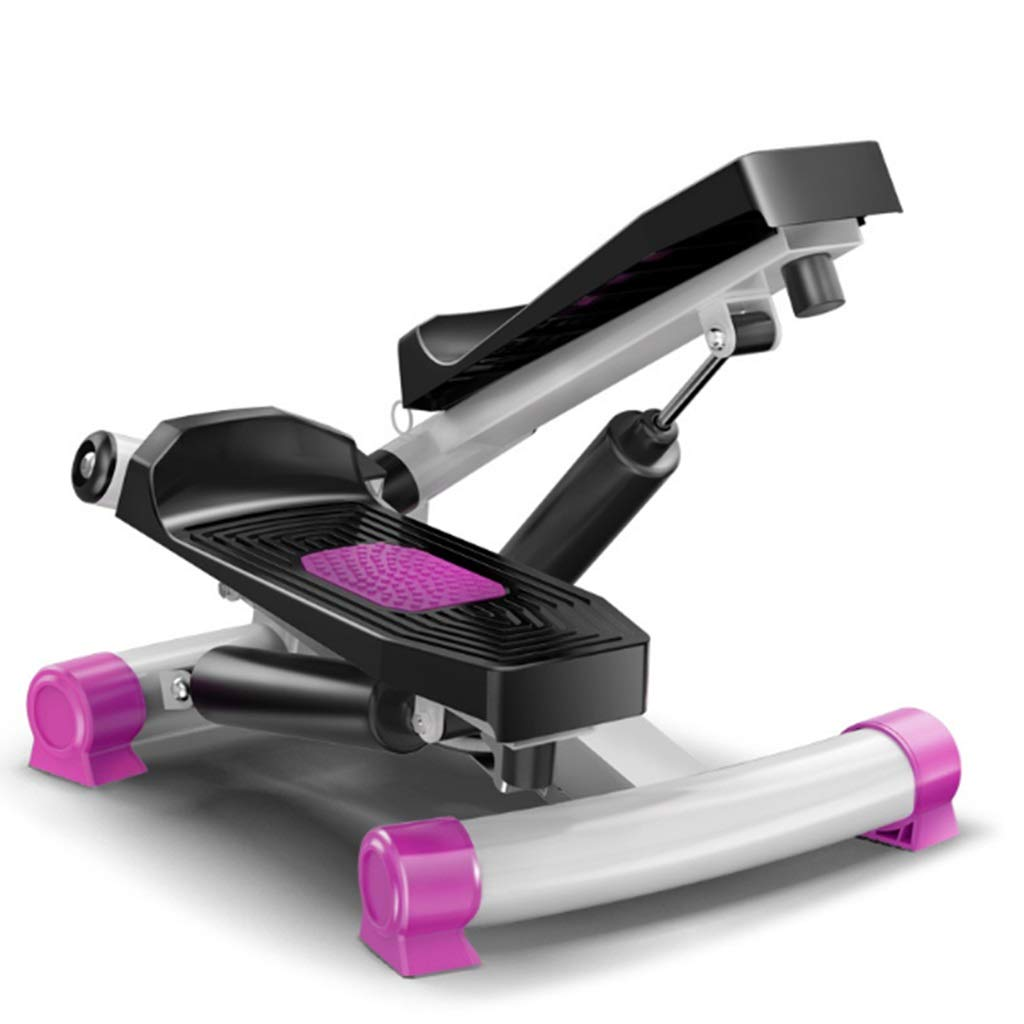 Tabuji Steppers, Home Fitness Equipment, Swing Stepper Machine with Multi-Function Display Screen (Purple)