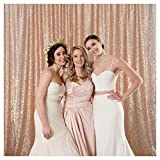 QueenDream 7ftx7ft Rose Gold Background Sequin Backdrop backdrops Birthday Party Backdrop for Kids