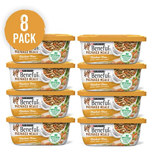 Image of Purina Beneful Prepared Meals Chicken Stew Adult Wet Dog Food - (8) 10 Oz. Tubs