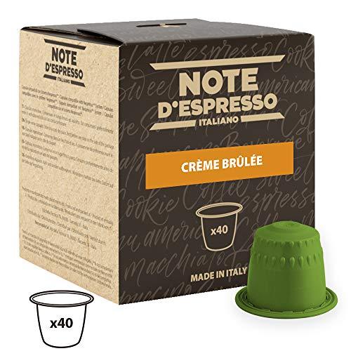 Note D'Espresso Creme Brulee Kapseln 6 g x 40 Kapseln ausschließlich Kompatibel mit Nespresso*-Kapselmaschinen