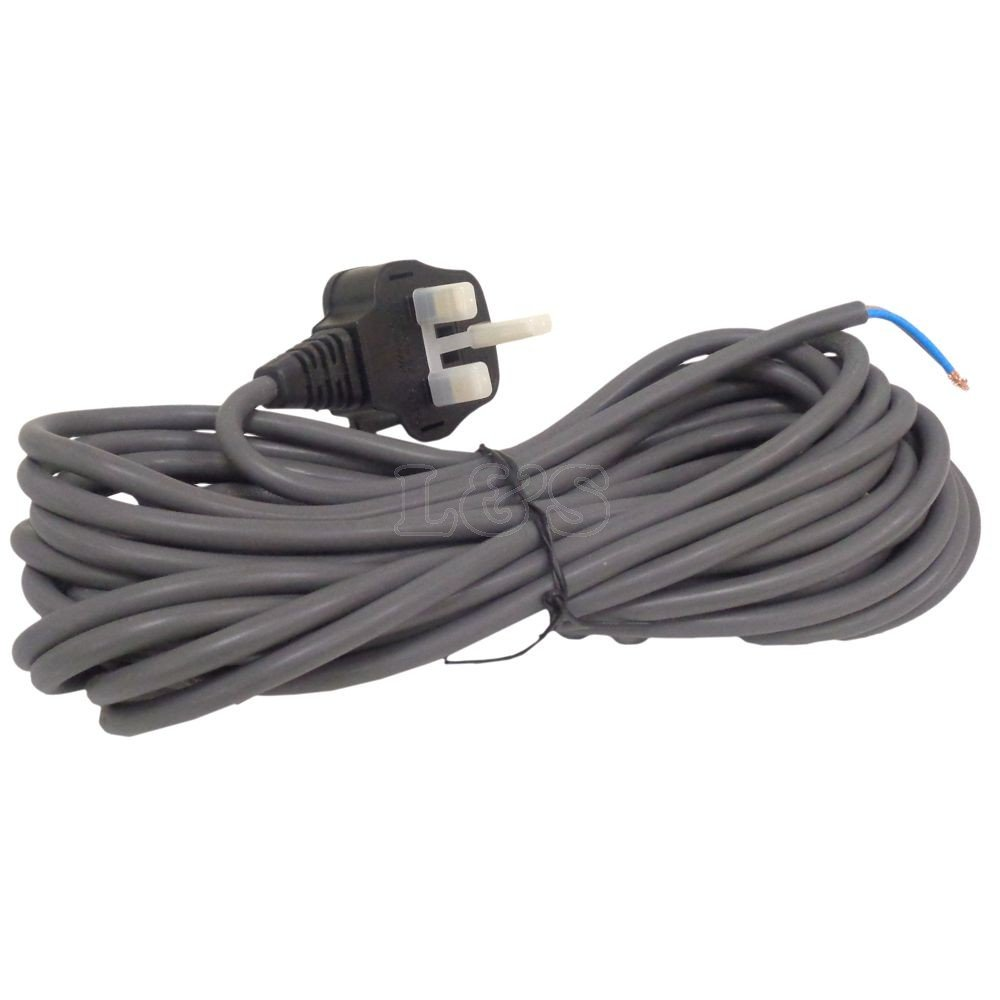 Mains Power Cable 7m 2 Core Uk Fitted 13amp Plug Fits Vacuum Wiring X Y Z Cleaners Diy Tools