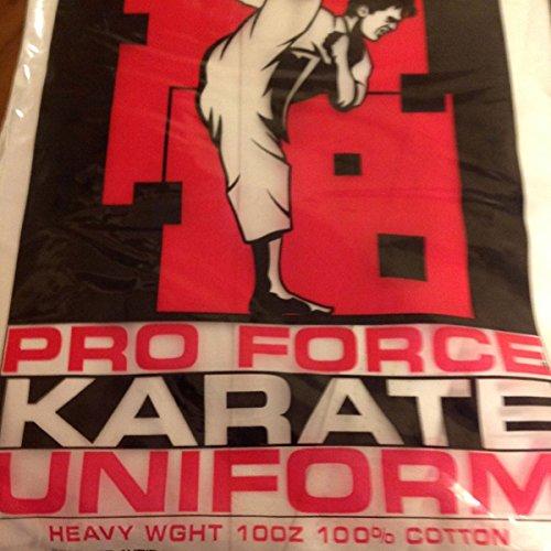 ProForce 10oz. Heavy 100% Cotton Karate Gi Uniform, White, 4